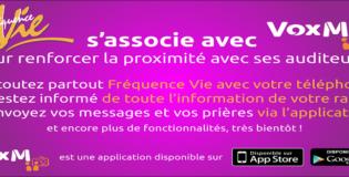 Radio Fréquence Vie change d'Application mobile :VoxM